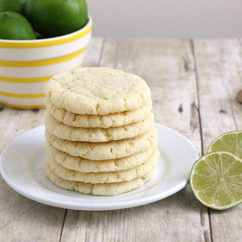 Chewy Coconut-Lime Sugar Cookies