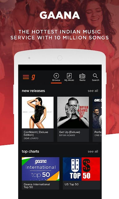 Gaana: Bollywood & Hindi Songs screenshots