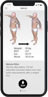 BMI 3D - Body Mass Index and body fat in 3D