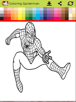 Coloring Spider-man : SpiderMan Games Free APK screenshot thumbnail 4