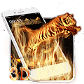 Free 3D Vitality Fire Tiger Theme APK for Windows 8