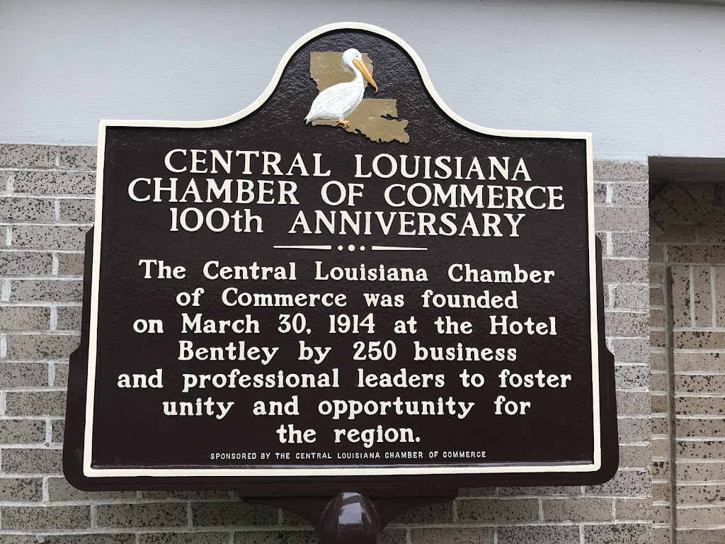 The Central Louisiana Chamber of Commerce was founded on March 30, 1914 at the Hotel Bentley by 250 business and professional leaders to foster unity and opportunity for the region.