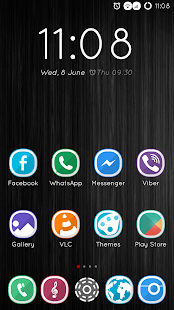 CM13 Theme DarkNight Hybrid- screenshot thumbnail