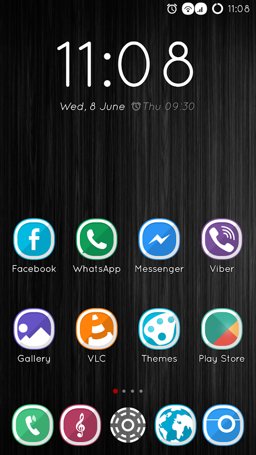 CM13 Theme DarkNight Hybrid Screenshot 2