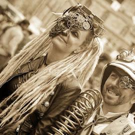 steampunk by Kathleen Devai - People Street & Candids ( sepia, costume, lincolnasylum, steampunk )