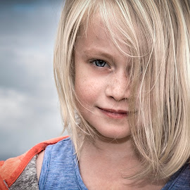 Poppy by Anthony Wood - Babies & Children Child Portraits ( girl, cloudy, portrait )