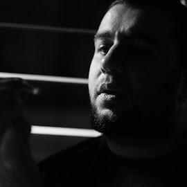 Decision  by Azman Karib - People Portraits of Men ( #portrait, #black&white )
