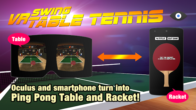VR Swing Table Tennis Oculus apk screenshot