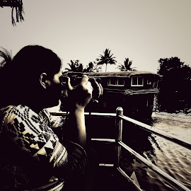 Photographers photo by Nishant Mishra - Instagram & Mobile Android ( sky, alone, nature, photographer, black and white, scenic, lake, water, landscape, peaceful )