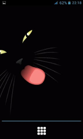 android Dark Cat Lick LWP Screenshot 1