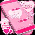 Lovely Pink SMS Theme APK for Bluestacks