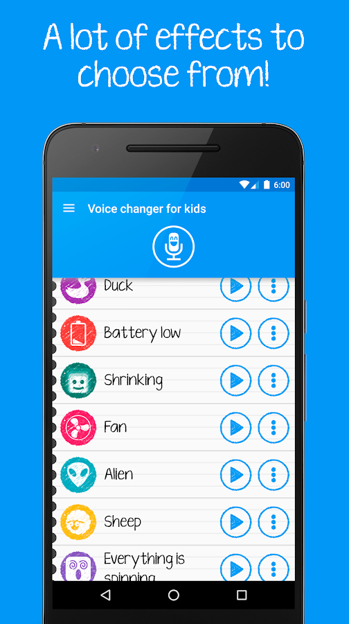 Voice changer for kids Screenshot 3