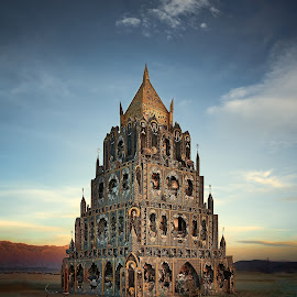 by Dan Hayes - Buildings & Architecture Other Exteriors ( structural art, burning man, structure, building, art )