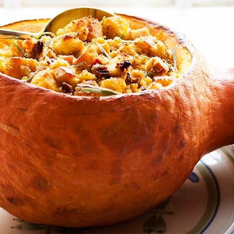 How Do I Cook This? Hubbard Squash with Cornbread Stuffing