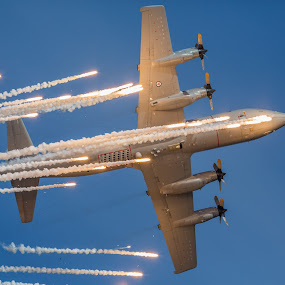 Orion airplane by Benny Høynes - Transportation Airplanes ( lights, flight, airplane, orion, war, norway )