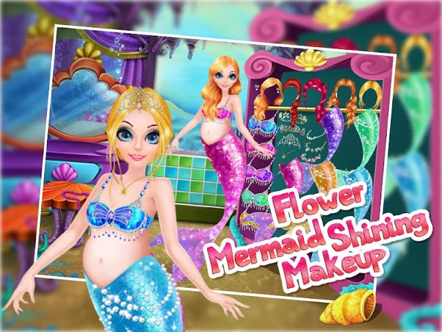android Flower Mermaid Shining Makeup Screenshot 5