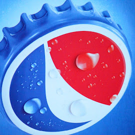 PEPSI by Mirza N. Islam - Food & Drink Alcohol & Drinks ( water, red, waterdrop, blue, drop, cap, white, pepsi )