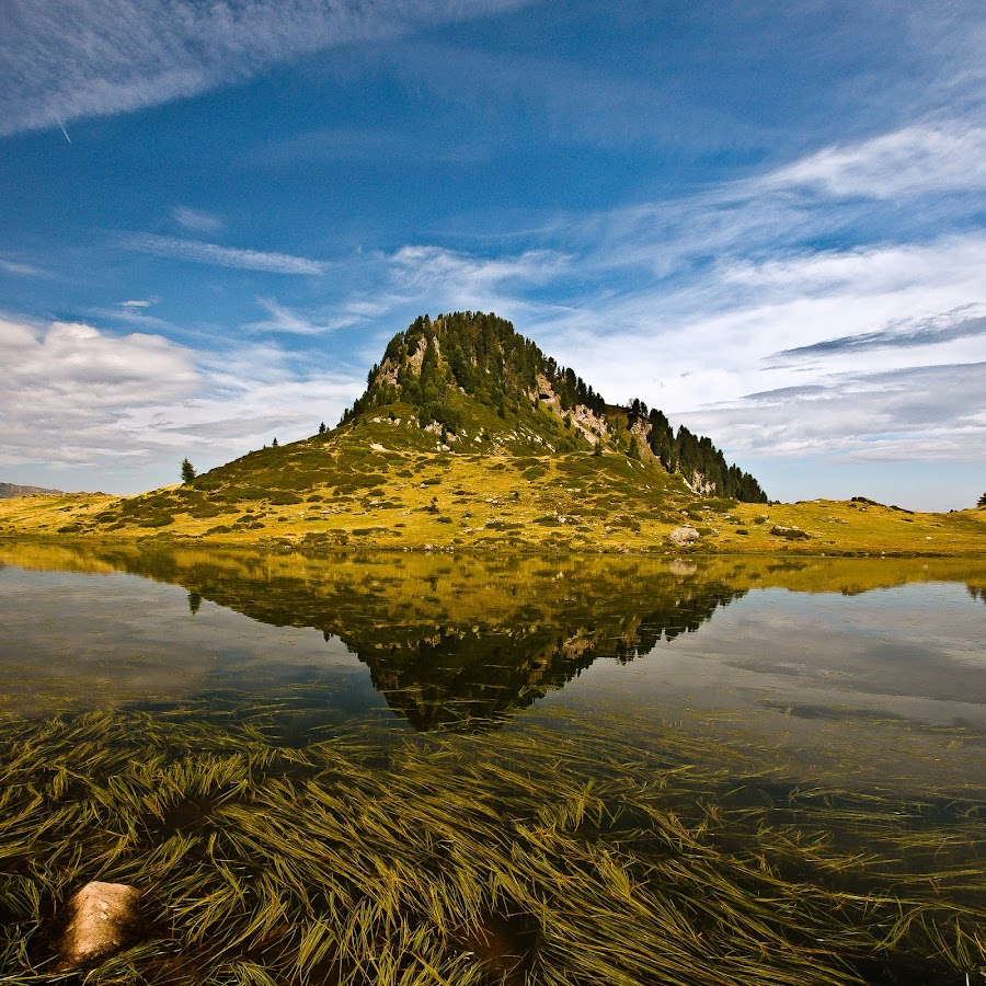 The mirror by Alessio Pellegrini - Landscapes Waterscapes ( mirror, water, trentino, mountain, lake )