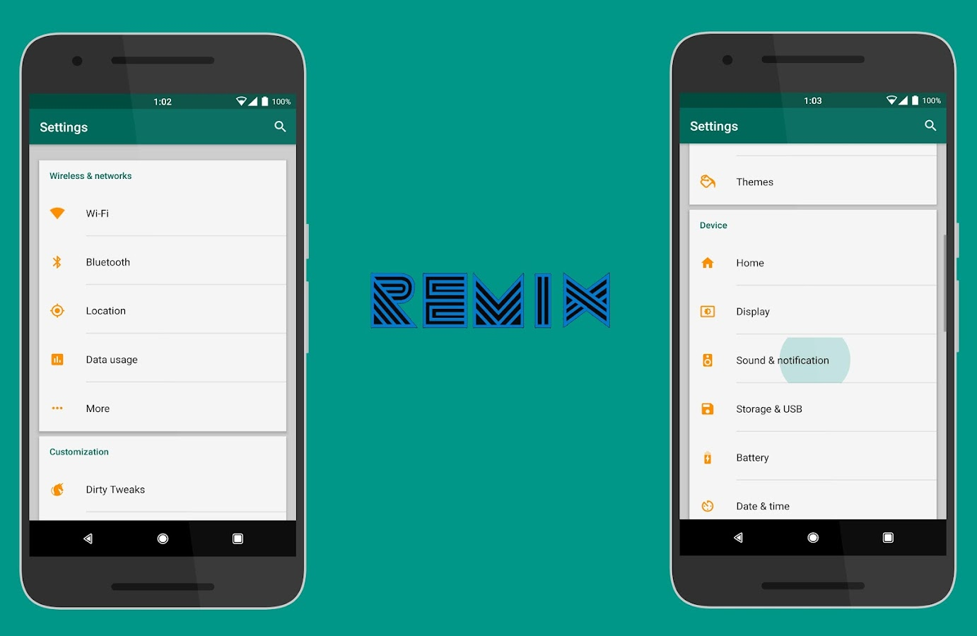 RemiX Layers Theme Screenshot 1