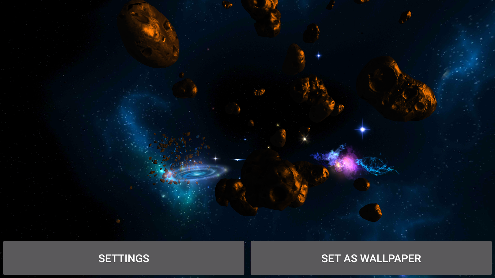 3D Galaxies Exploration LWP Screenshot 15