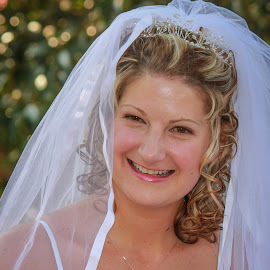 Radient by Dirk Luus - Wedding Bride ( radient, joyfull, woman, happy, bride )