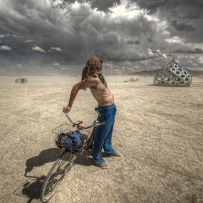 You Found Me by Edin Chavez - Landscapes Deserts ( clouds, burning man, black rock desert, art, artistic )