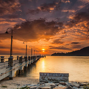 jerejak jetty by P Hin Cheah - Landscapes Sunsets & Sunrises ( jerejak jetty, penang, jerejak, sunrise, jetty )