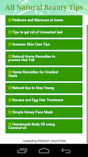All Natural Beauty Tips - screenshot