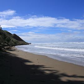 Blackhead Beach by Elayne Hand - Landscapes Beaches ( water, sand, waves, tide, ocean, beach, blackhead beach )