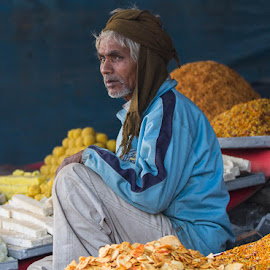 Market Seller India by Janet Marsh - People Street & Candids ( market, man, indiapart1,  )