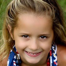 Sunkissed by Zuanè Gagiano - Babies & Children Child Portraits ( girl child, child, brown eyes, girl, innocent, beautiful, innocence, child portrait, smile )