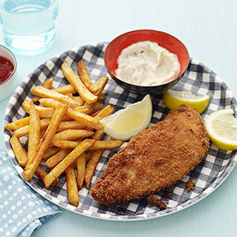 Panko Fried Fish and Smoky Chips