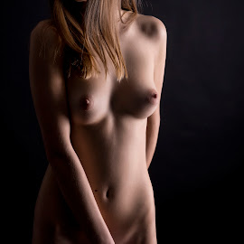 Le Femme by Lucian Pirvu - Nudes & Boudoir Artistic Nude ( breast, blonde, model, girl, nude, color, naked, modeling )