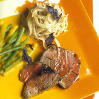 Chilled Thai Tenderloin and Pasta with Tons of Basil