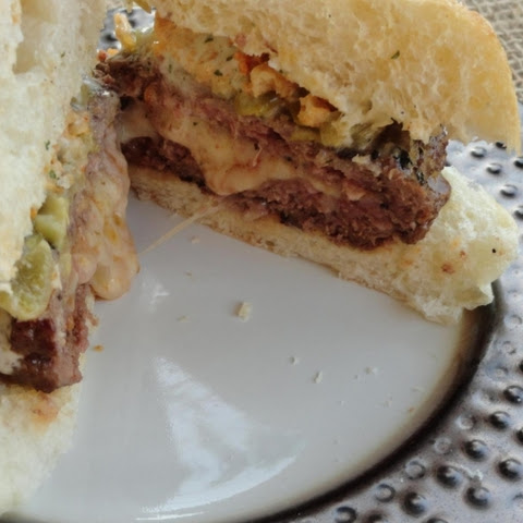 Stuffed Green Chilies Burger