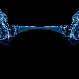 Smoke Spoon by Eddy Maerten - Digital Art Things ( red, smoke,  )