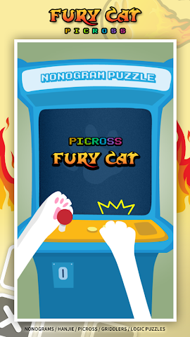 android Fury Cat (Picross,  Griddlers) Screenshot 0