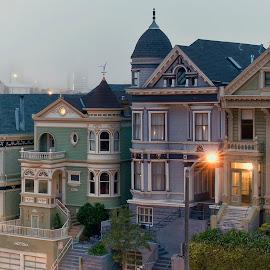 Seven Sisters ,SF by Stanley P. - City,  Street & Park  Street Scenes