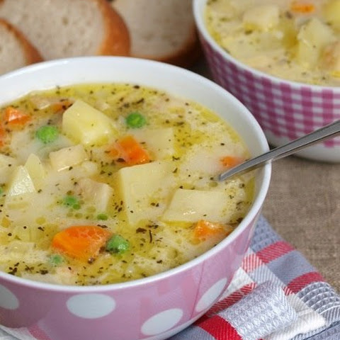 Milk soup with vegetables (Diet foods)