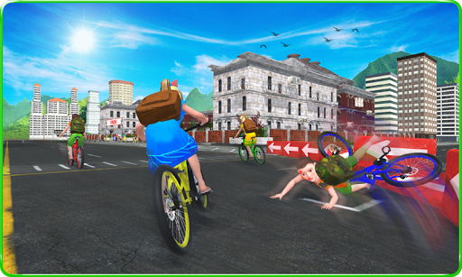 Kids School Time Bicycle Race For PC