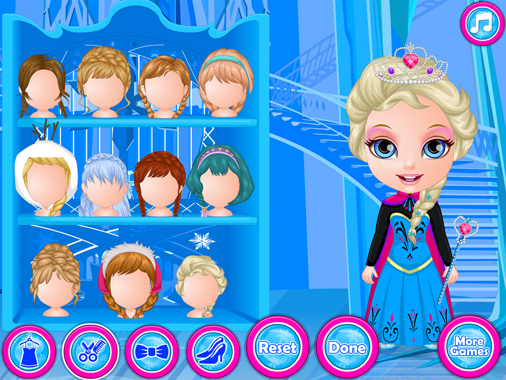 Baby Magic Frozen Salon Screenshot
