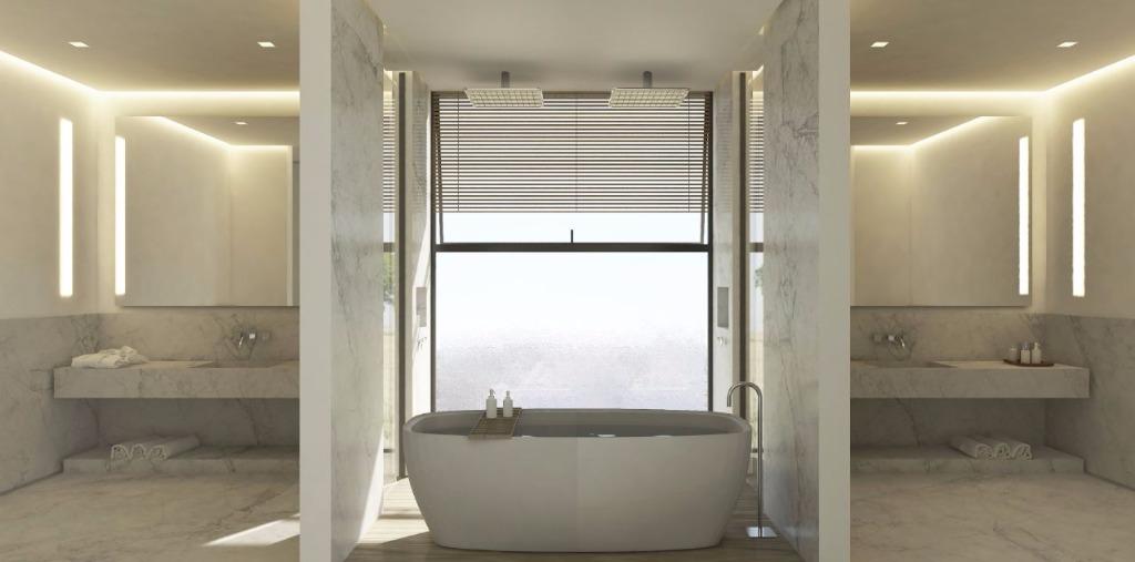 Perspectiva do Banho Máster - 549 m²
