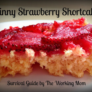 Skinny Strawberry Short Upside Down Cake
