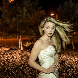 Left by Lee Niven - Wedding Other ( model, wedding dress, kate, beach, cute, blonde, bridal, leeniven, woman, dress, wedding, dark, bride )
