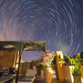 Moroccan Startrails by Graham Kidd - Landscapes Starscapes ( night photography, long exposure, night, morocco, startrails )