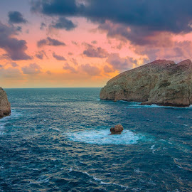 Sunset Sardinia, Italy. by Łukasz Rogalski - Landscapes Waterscapes
