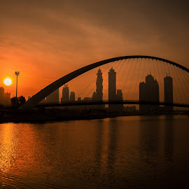 Dubai Water Canal by Myman Cañete - Landscapes Sunsets & Sunrises