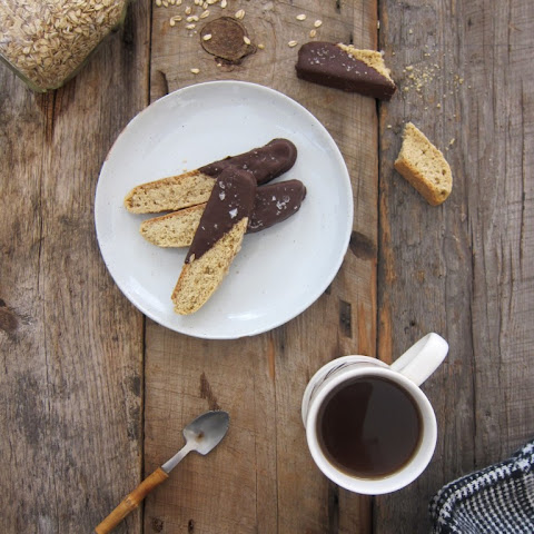 Maple Oat Biscotti with Chocolate & Sea Salt