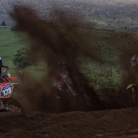 Motocross by Shirley Warner - Transportation Motorcycles ( bike, motocross, speed, wheels, dirt, race,  )