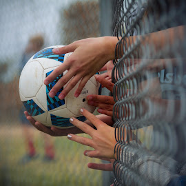 Teamwork by Rainee Tubbs - Sports & Fitness Soccer/Association football ( teamwork, sports, play, youth, game, soccer )